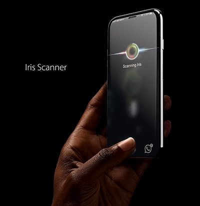 Scanner iride di iPhone 8