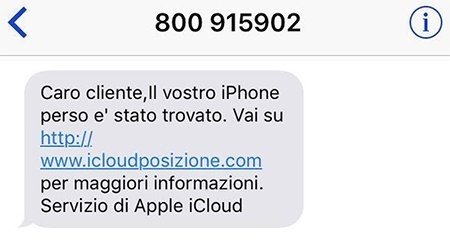 SMS pericoloso su iPhone