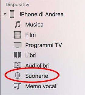 Suonerie su iOS
