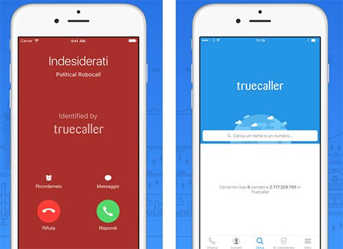 App Truecaller per iPhone