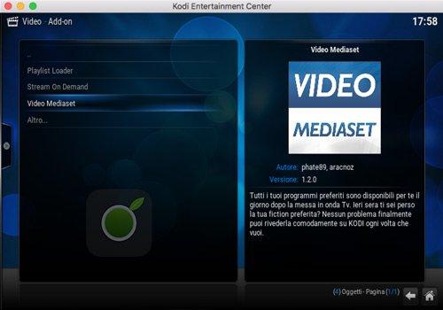 Video Mediaset Add-on Kodi