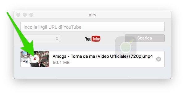 Aprire video da Airy