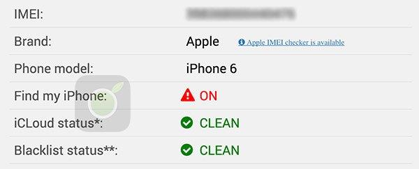 Blacklist iPhone