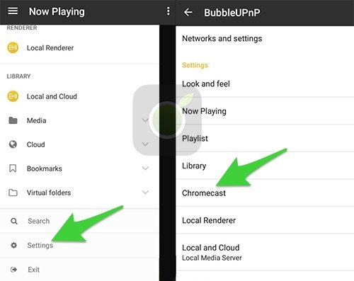 BubbleUpnP per Chromecast