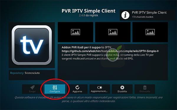 Configurare IPTV su Kodi
