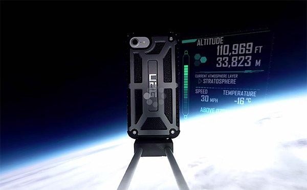 iPhone 7 nella stratosfera