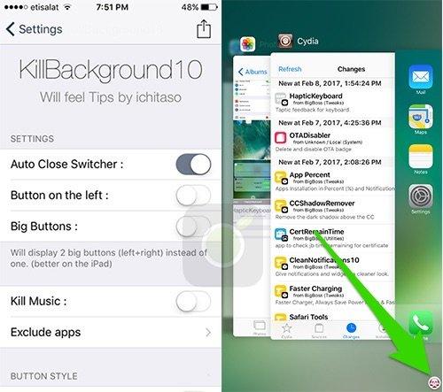 Killbackground10 Tweak su Cydia