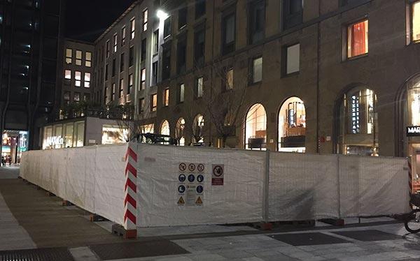 Lavori in corso di Apple Store Milano centro