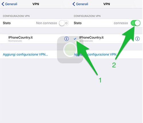 Connettere VPN su iOS