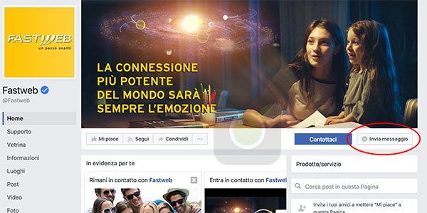 Fastweb su Facebook