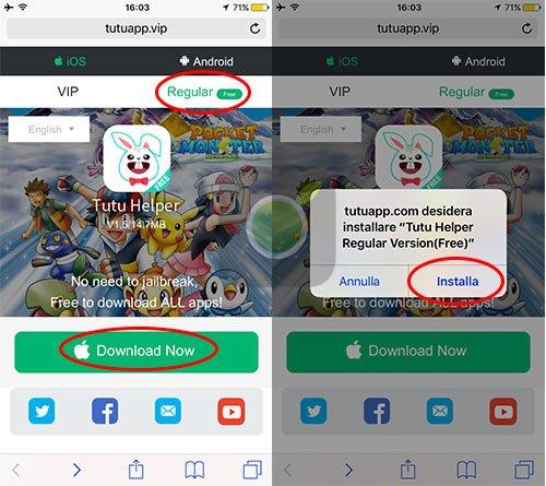 Installa TuTuApp Free