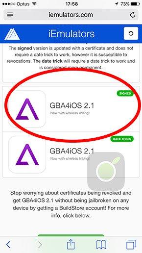 Installare GBA4iOS