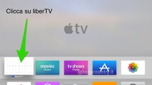 LiberTV App su Apple TV