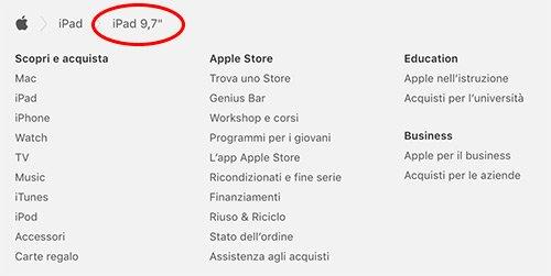 Nuovo nome di iPad
