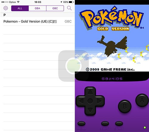 Pokemon Gold su GBA4iOS per iPhone