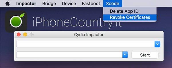 Revoca i certificati con Cydia Impactor