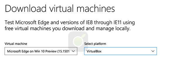 Scarica Edge per Virtual Machine