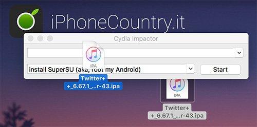 Twitter Plus Plus su Cydia Impactor