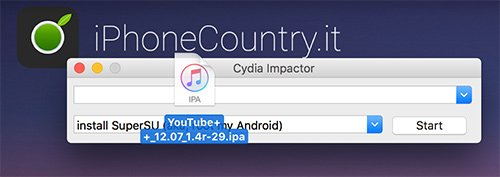 YouTube Plus Plus su Cydia Impactor
