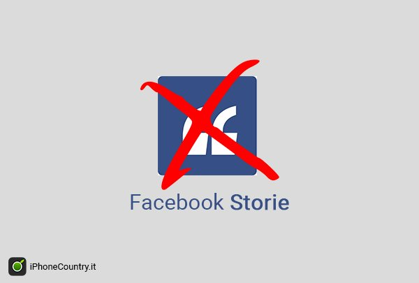 Come eliminare Facebook Storie