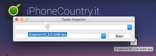 iCapture10 su Cydia Impactor