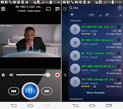 Live Stream Player per Android