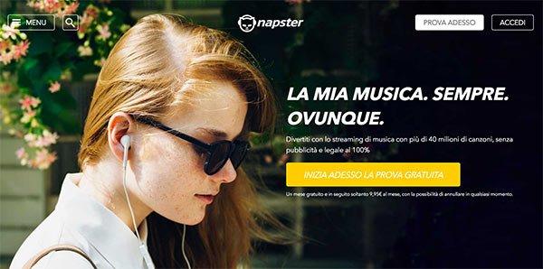 Prova gratuita di Napster