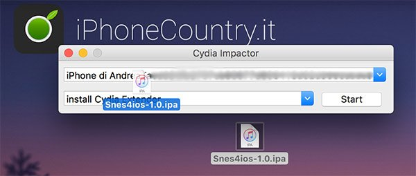 SNES4iOS IPA su Cydia Impactor