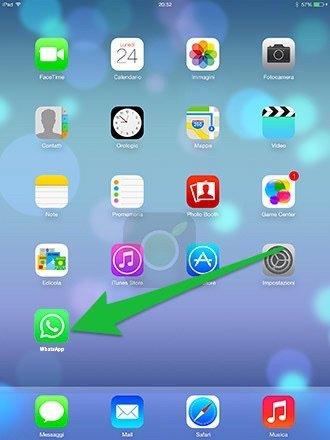 Icona di WhatsApp su iPad