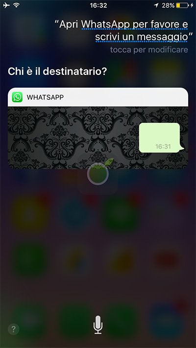 Comandi Siri per WhatsApp