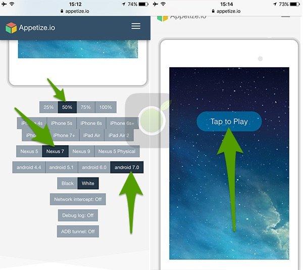 Configurazione emulatore Android Apptize