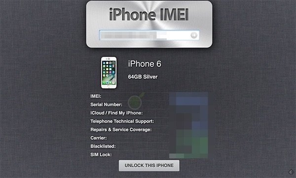 controllo imei iphone 6s