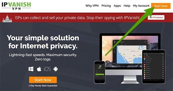 Iniziare con IPVanish