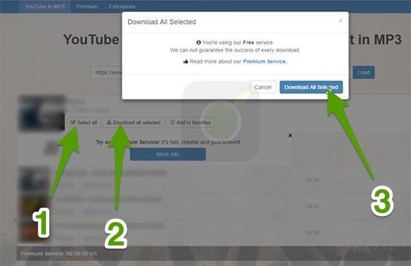 Scaricare canzoni da Playlist YouTube