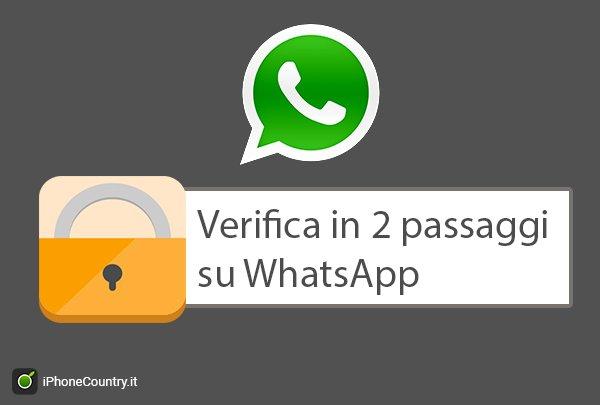 Verifica in due passaggi su WhatsApp