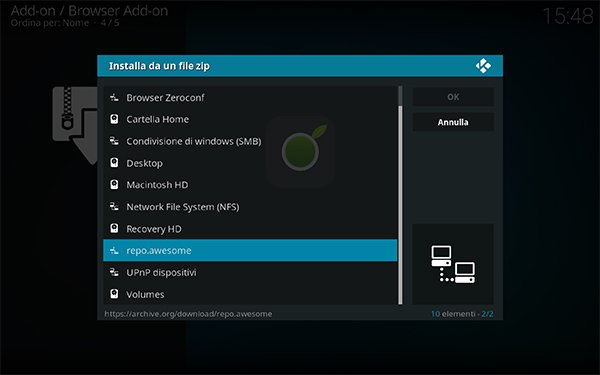 Repo Awesome da Kodi