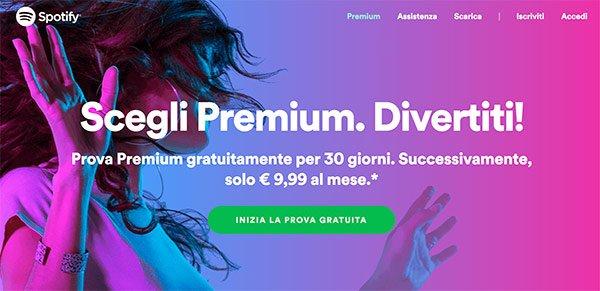 Prova gratuita di Spotify Premium