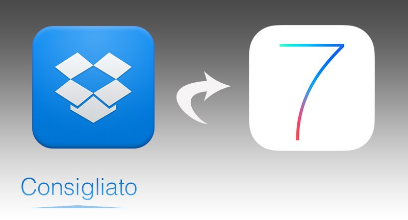 Dropbox in stile iOS 7