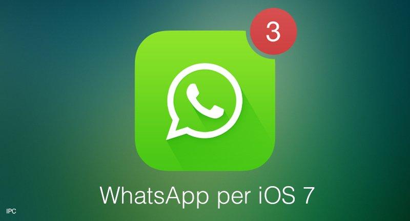 versione whatsapp per ios 7